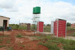 20130221Solar Powered water pumps and toilets at Phooko