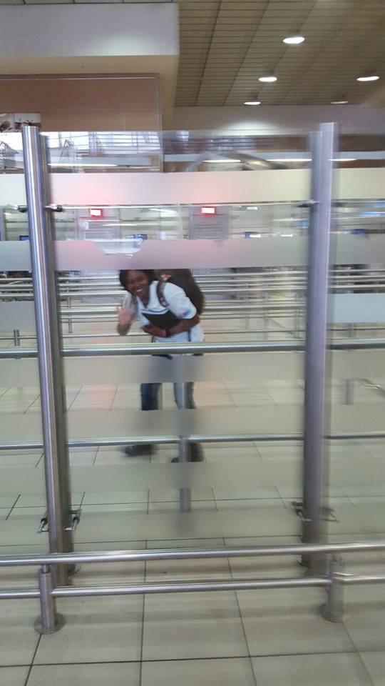 Charlotte kurz vorm Abflug nach Qingdao